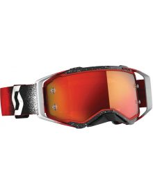 Scott Prospect MX Goggle White/Red W/Orange Lens