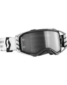 Scott Prospect MX Goggle Sand/Dust  Black/White/Gry W/Dual Clear Lens