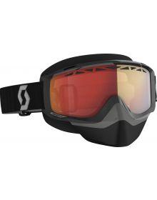 Scott Split OTG Snow Goggles Black/Grey W/Red Chrome Lens