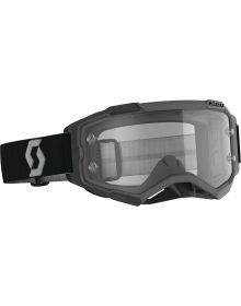 Scott Fury MX Goggles Black/Grey w/Clear Lens