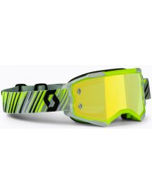 Scott Fury MX Goggles Yellow/Grey w/Yellow Chrome Lens