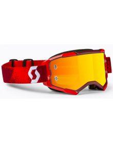 Scott Fury MX Goggles Red/Orange w/Orange Chrome Lens
