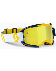 Scott Fury MX Goggles Yellow/Blue w/Yellow Chrome Lens