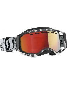 Scott Prospect Snow Goggles Marble Black/White W/Light Senitive Red Lens