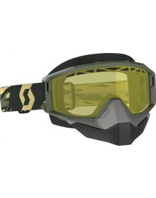 Scott Primal Snow Goggles Camo/Kahki w/Yellow Lens