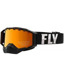 Fly Racing 2021 Zone Pro Snow Goggles Black W/Orange Mirror Lens