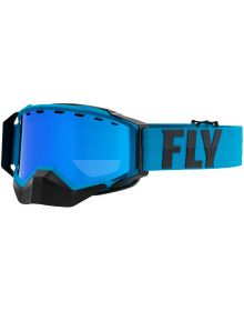 Fly Racing 2021 Zone Pro Snow Goggles Blue W/Blue Mirror Lens
