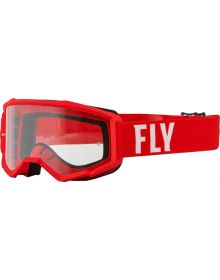 Fly Racing 2022 Focus Goggles Red/White
