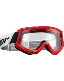 Thor 2020 Combat Sand Youth Goggle Red/Black
