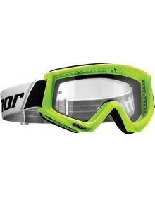 Thor 2020 Combat Sand Youth goggle Flo Green