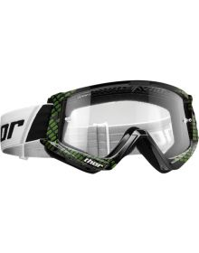 Thor 2020 Combat Youth Goggle Cap Black/Lime