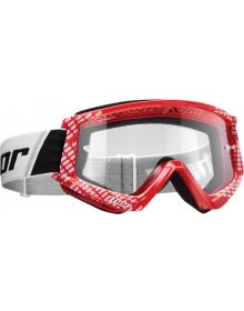 Thor 2020 Combat Youth Goggle Cap Red/White