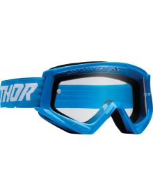 Thor Combat Racer Goggles Blue/White