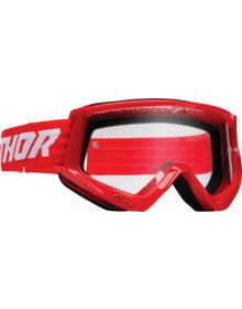 Thor Combat Racer Goggles Red/White