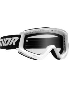 Thor Combat Racer Youth Goggles White/Black