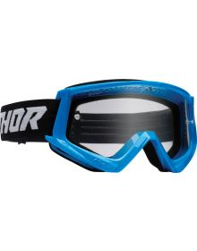 Thor Combat Racer Youth Goggles Blue/Black