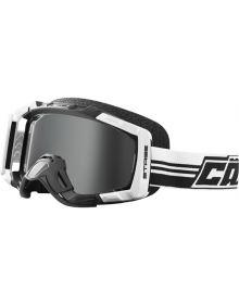 Castle X Sno Stage Blackout Snowmobile Goggles White