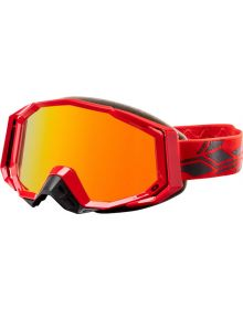 Castle X Trace Snowmobile Goggle Red