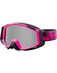 Castle X Trace Snowmobile Goggle Matte Pink-Glo