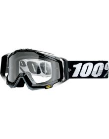 100% Racecraft Goggles Abyss Black w/Clear Lens