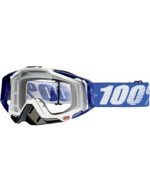 100% Racecraft Goggles Cobalt Blue w/Clear Lens