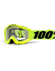100% Accuri JR Youth Goggles Fluo Yellow
