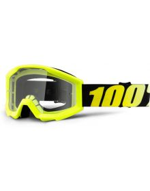 100% Strata Jr Youth Goggles Fluo Yellow