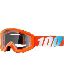 100% Strata Goggles Junior Orange Clear