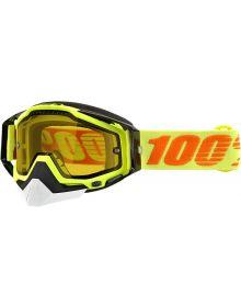 100% Racecraft Snow Goggles Yellow W/Yellow Lens