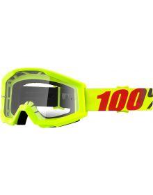 100% Strata Goggles Mercury w/Clear Lens