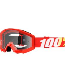 100% Strata JR Goggles Youth Furnace W/Clear Lens