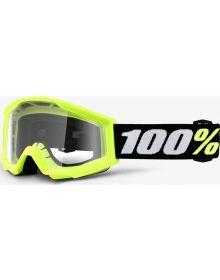 100% Strata Mini Goggles Yellow W/Clear Lens