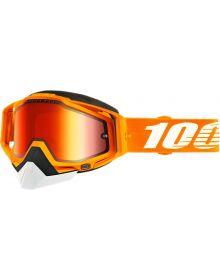 100% Racecraft Snow Goggles Crush2 w/Red Mirror Lens