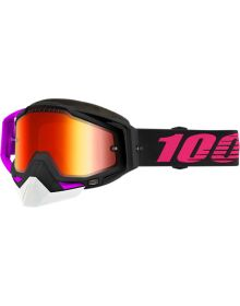 100% Racecraft Snow Goggles Haribo2 w/Red Mirror Les