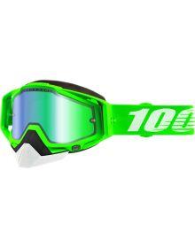 100% Racecraft Snow Goggles Organic2 w/Green Mirror