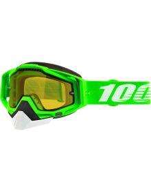 100% Racecraft Snow Goggles Organic2 w/Yellow Mirror