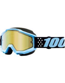 100% Accuri Snow Goggles Taichi W/Gold Mirror Lens