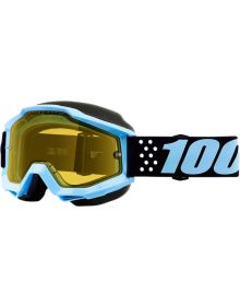 100% Accuri Snow Goggles Taichi W/Yellow Lens