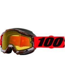 100% Accuri Snow Goggles Vendome W/Yellow Lens