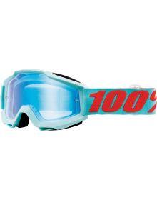 100% Accuri Goggles Maldives W/Blue Mirror Lens