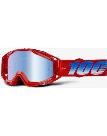 100% Racecraft Goggles Kuriakin w/Blue Mirror Lens