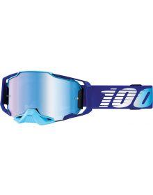 100% Armega Goggles Blue W/Blue Lens