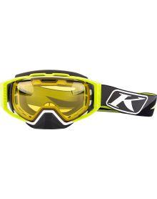 Klim 2019 Oculus Goggle Dissent Green Photochromic Yellow to Smoke