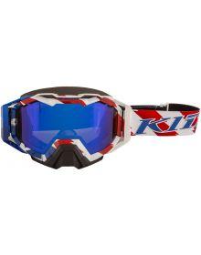 Klim Viper Pro Snow Goggle Patriot Pledge/Dark Smoke Blue Mirror Lens