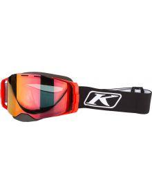 Klim Edge Snow Goggle Focus Black with Smoke Tint Red Mirror
