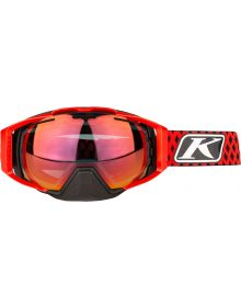 Klim Oculus Snow Goggle Dimond Fade High Risk Red with Red Mirror & Clear