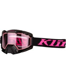 Klim Viper Snow Goggle Linkage Knockout Pink with Pink Tint