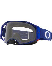 Oakley Airbrake MX Goggles Moto Blue/Clear Lens