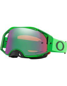 Oakley Airbrake MX Goggles Moto Green/Prizm Jade Lens