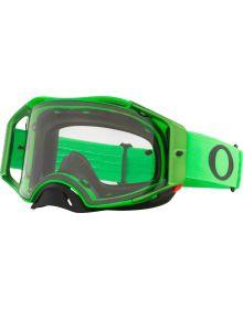 Oakley Airbrake MX Goggles Moto Green/Clear Lens